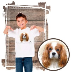 "Koszulka chłopięca z psem ""cavalier king charles spaniel"""