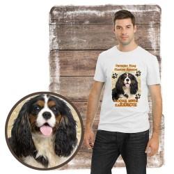 "Koszulka męska z psem ""Cavalier kocha zażarcie"""