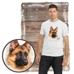 Koszulka męska z psem owczarek niemiecki