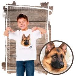 Koszulka chłopięca z psem owczarek niemiecki
