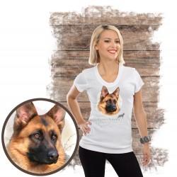 Koszulka damska z psem owczarek niemiecki