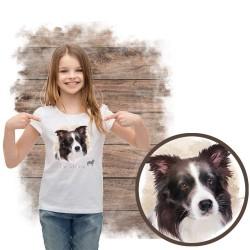 """Koszulka dziewczęca z psem """"border collie"""""""
