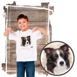 """Koszulka chłopięca z psem """"border collie"""""""
