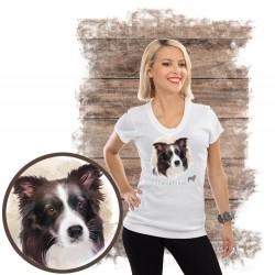 "Koszulka damska z psem ""border collie"""