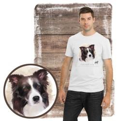 "Koszulka męska z psem ""border collie"""