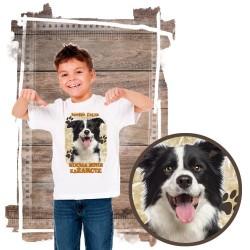 """Koszulka chłopięca z psem """"border collie kocha zażarcie"""""""