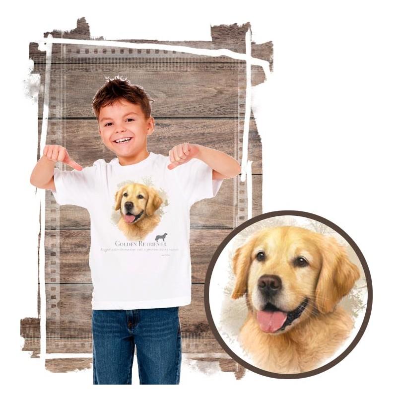 "Koszulka chłopięca z psem ""golden retriever"""