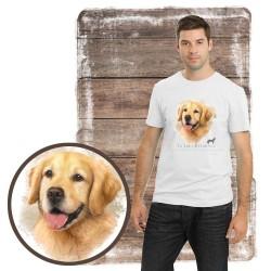 """Koszulka męska z psem """"golden retriever"""""""