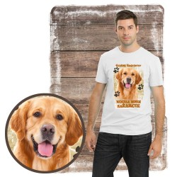 "Koszulka męska z psem ""Golden retriever kocha zażarcie"""