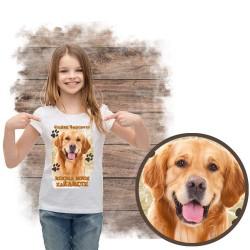 """Koszulka dziewczęca """"Golden retriever kocha za żarcie"""""""