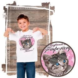 koszulka z kotem FOREVER-CAT-RHINESTONES