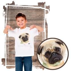 "Koszulka chłopięca z psem ""mops"""