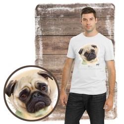 """Koszulka męska z psem """"mops"""""""
