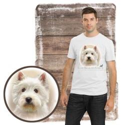 """Koszulka męska z psem """"west highland white terier"""""""