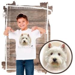 "Koszulka chłopięca z psem ""west highland white terier """
