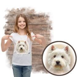 """Koszulka dziewczęca z psem """"west highland white terier"""""""