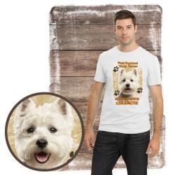 """Koszulka męska z psem """"west kocha zażarcie"""""""