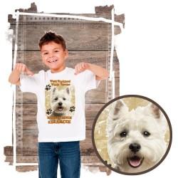 """Koszulka chłopięca z psem """"west kocha zażarcie"""""""