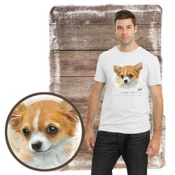 "Koszulka męska z psem ""chihuahua"""