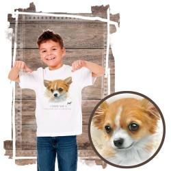 "Koszulka chłopięca z psem ""chihuahua"""