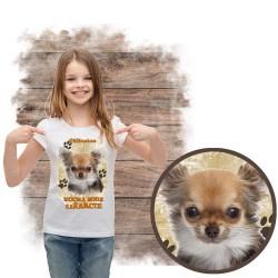 """Koszulka dziewczęca """"chihuahua kocha za żarcie"""""""