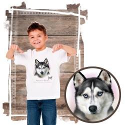 """Koszulka chłopięca z psem """"siberian husky"""""""