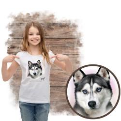 """Koszulka dziewczęca z psem """"siberian husky"""""""