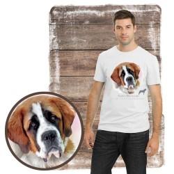 """Koszulka męska z psem """"bernardyn"""""""