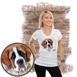 """Koszulka damska z psem """"bernardyn"""""""