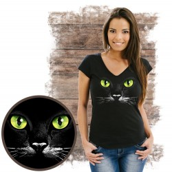 koszulka z kotem EYES-BLACK-KAT