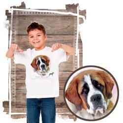 """Koszulka chłopięca z psem """"bernardyn"""""""