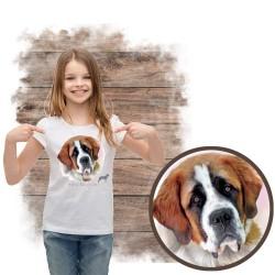"""Koszulka dziewczęca z psem """"bernardyn"""""""