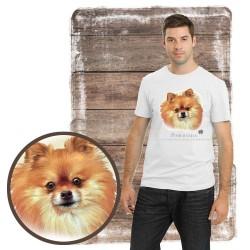 """Koszulka męska z psem """"pomeranian"""""""