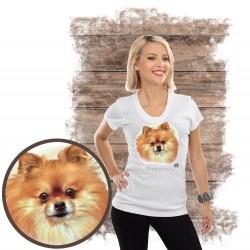 """Koszulka damska z psem """"pomeranian"""""""