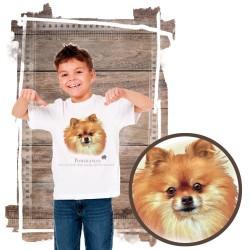 """Koszulka chłopięca z psem """"pomeranian"""""""