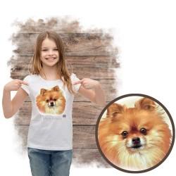 """Koszulka dziewczęca z psem """"pomeranian"""""""