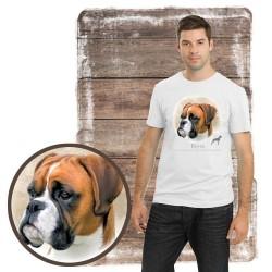 "Koszulka męska z psem ""bokser"""