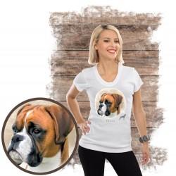 """Koszulka damska z psem """"bokser"""""""