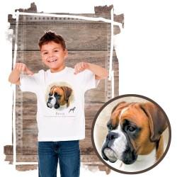 """Koszulka chłopięca z psem """"bokser"""""""