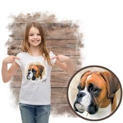 """Koszulka dziewczęca z psem """"bokser"""""""