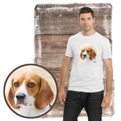 "Koszulka męska z psem ""beagle"""
