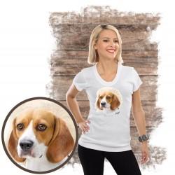 "Koszulka damska z psem ""beagle"""