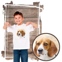 "Koszulka chłopięca z psem ""beagle"""