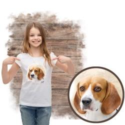 """Koszulka dziewczęca z psem """"beagle"""""""