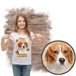 """Koszulka dziewczęca """"beagle kocha zażarcie"""""""