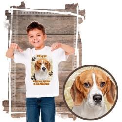 """Koszulka chłopięca z psem """"beagle kocha zażarcie"""""""