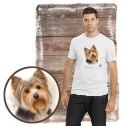 "Koszulka męska z psem ""yorkshire terier"""