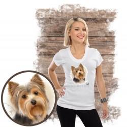 "Koszulka damska z psem ""yorkshire terier"""