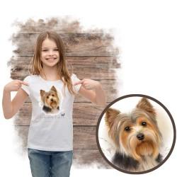 """Koszulka dziewczęca z psem """" yorkshire terier"""""""