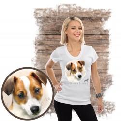 """Koszulka damska z psem """"jack russell terier"""""""